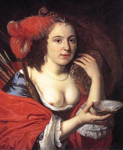 Anna-du-Pire-as-Granida-by-Bartholomeus-van-der-Helst L'estetica del seno nella storia dell'arte