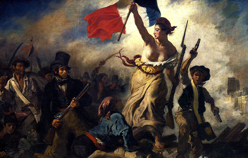 Eugène_Delacroix__La_liberté_guidant_le_peuple L'estetica del seno nella storia dell'arte